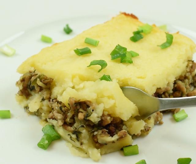 plated potato casserole