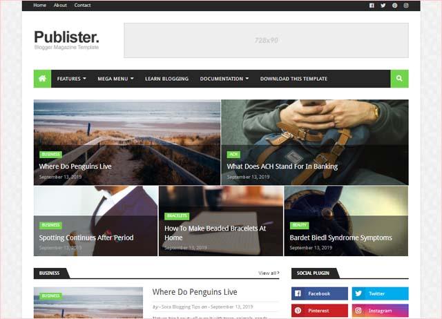 publister-blogger-template-download