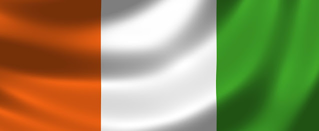 Which African country has a flag that's the reverse of the Irish flag?