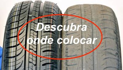 mudar os pneus da frente para trás