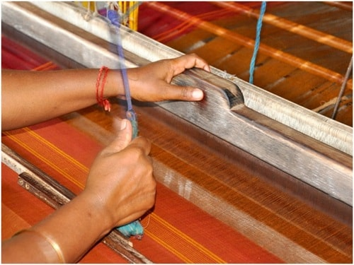 Chettinad sarees making by handloom