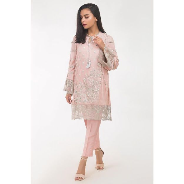 Gul Ahmed women eid collection pink color khadi suit