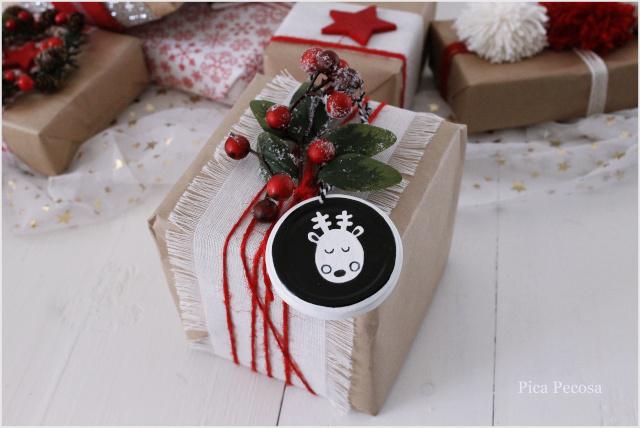 tapas-botes-pintadas-decoracion-navidad-falsas-rodajas-madera-etiqueta-regalo