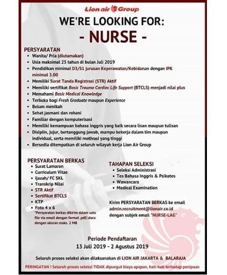 Lowongan Kerja Lion Air Group area Tangerang / Jakarta Hingga 2 Agustus 2019