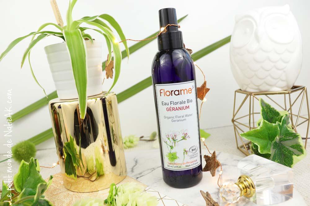 eau florale géranium moustique