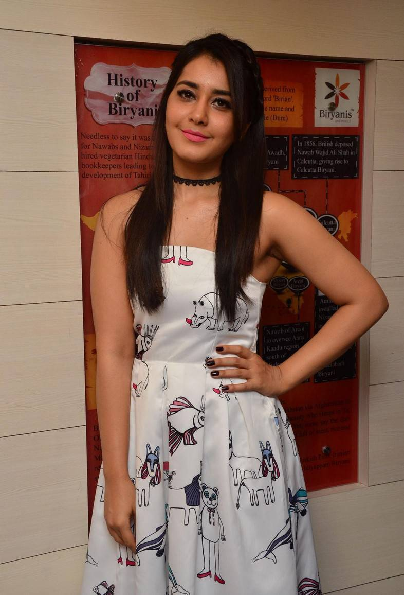South Indian Model Rashi Khanna At Restaurant Launch In White Gown