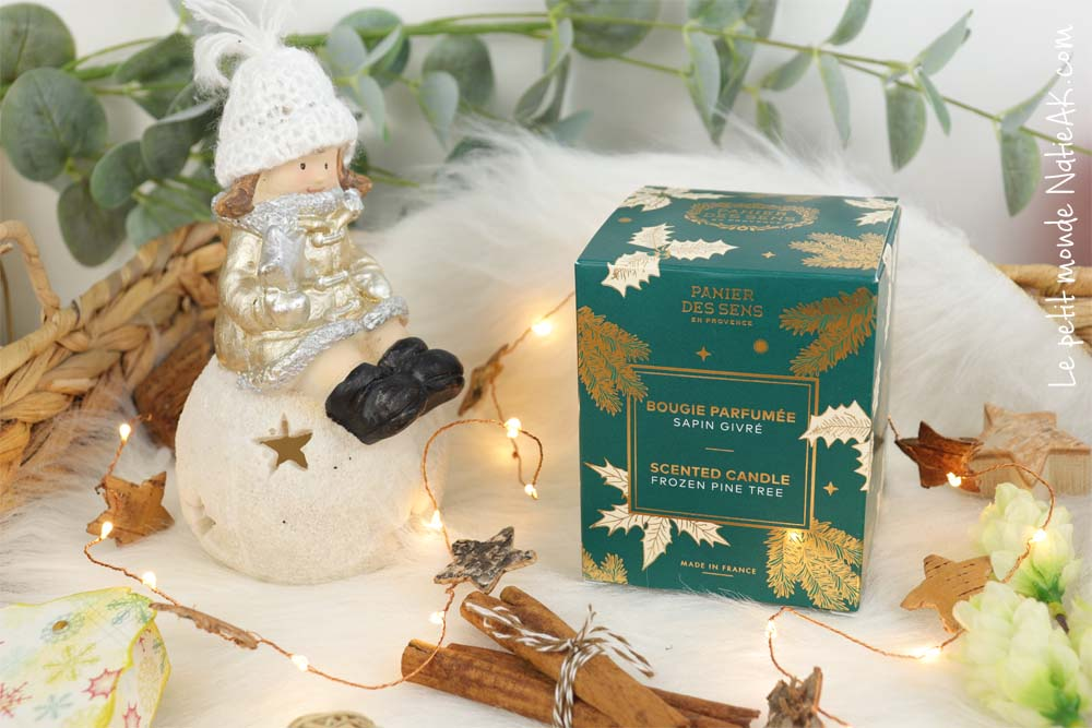 bougie parfumée Sapin givré Panier des sens Noël