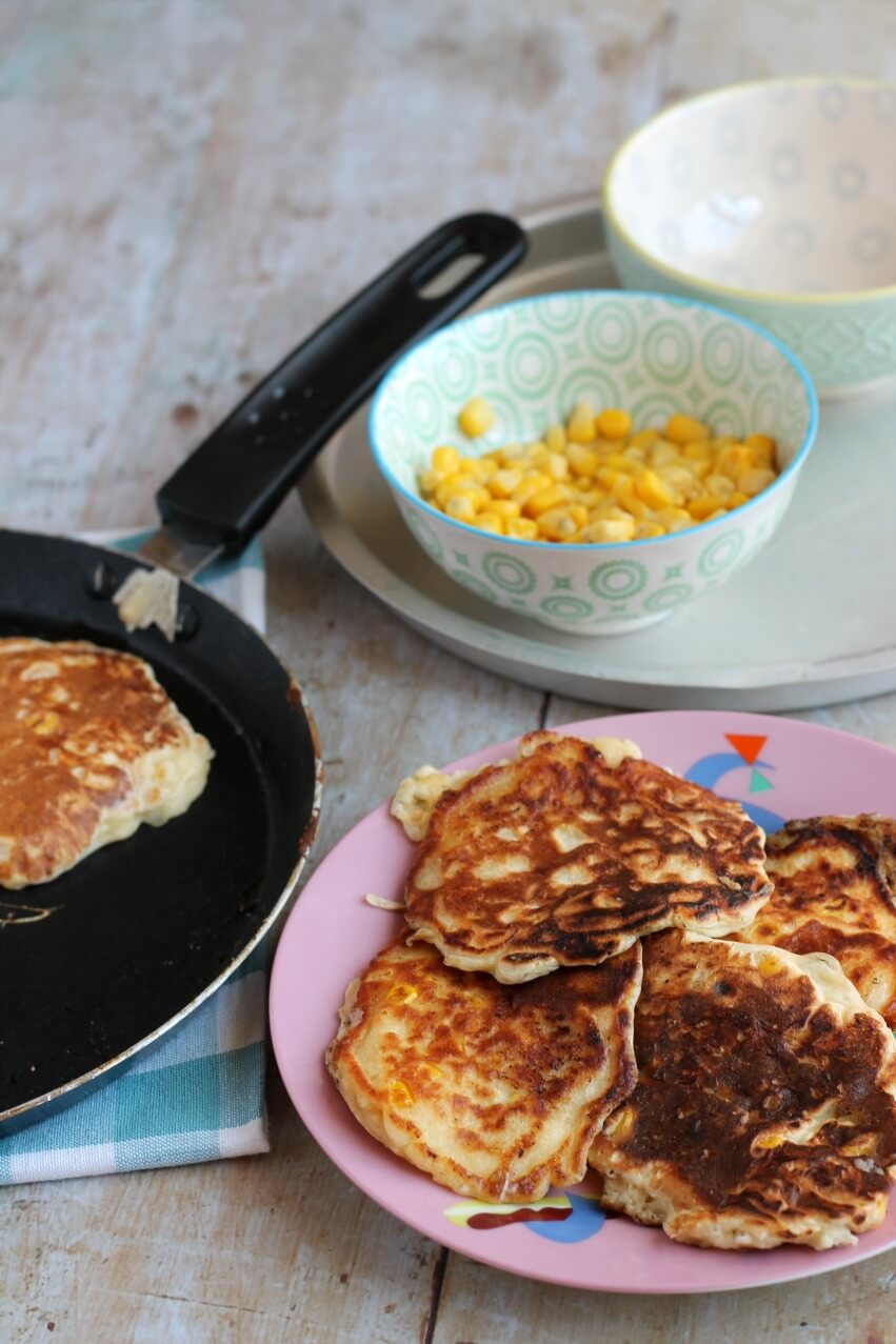 Sweetcorn and Cheddar Fritters