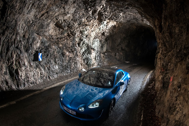 Estaban Ocon driving Rally Monte Carlo