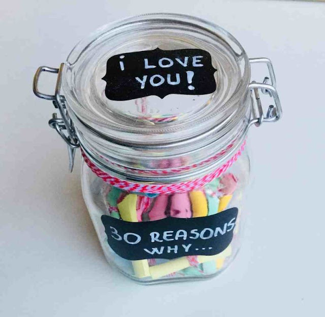 "A Jar Filled with ""Reasons Why I Love You"""