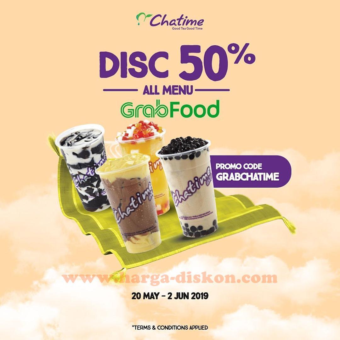 Promo Chatime Diskon 50 Semua Menu Dengan Grabfood Periode 20 Mei 2 Juni 2019 Harga Diskon