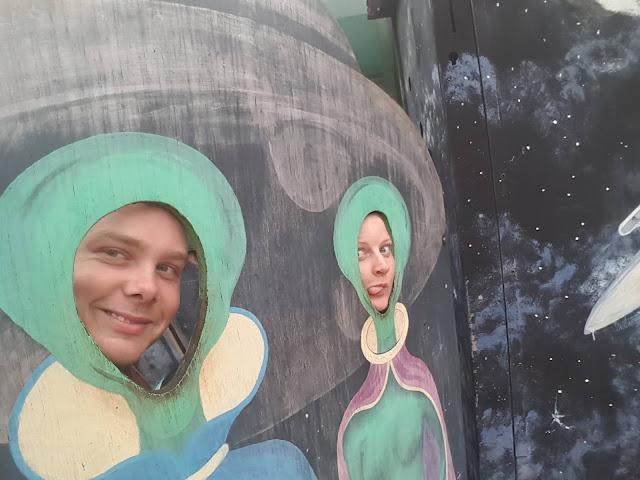 Wycliffe Well Aliens | Northern Territory Street Art