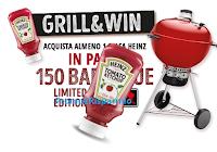 Logo Concorso Heinz ''Grill&Win'' puoi vincere 150 Barbecue Weber Limited Edition