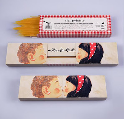 A Kiss for Pasta Packaging Design