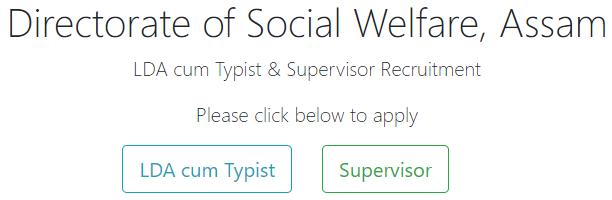 Social Welfare Assam Recruitment for 64 LDA Cum Typist Post Link