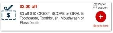 $3.00/10.00-any oral care CVS APP ONLY MFR Coupon (go to CVS App)