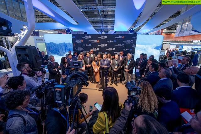 Ángel Víctor Torres anuncia en la inauguración de la World Travel Market de Londres que Canarias cerrará 2019 con algo más de 15 millones de turistas