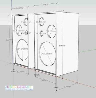Skema Box Speaker 3 Way standar- gambar 4