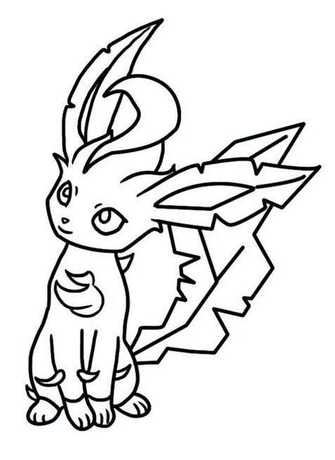pokemon leafeon coloring pages free pokemon coloring pages pokemon leafeon coloring pages free
