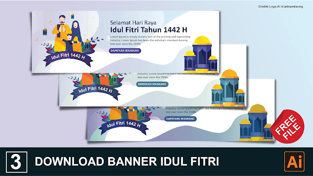 download Banner Idul Fitri Keren Gratis