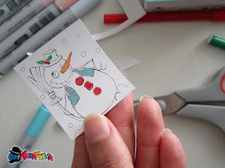 disegna dettagli su carta adesiva termica