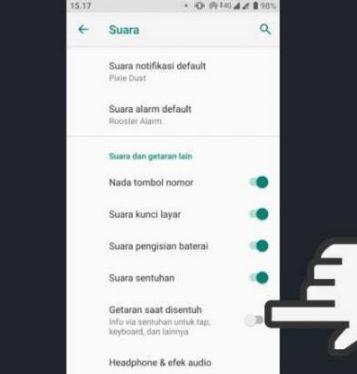 Cara Menonaktifkan Getar di Hp Android