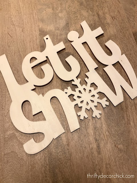 let it snow wood cut out