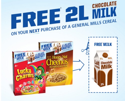General Mills Free 2L Chocolate Milk