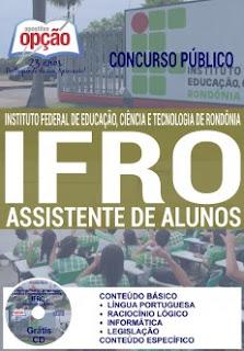 Apostila IFRO 2016 Assistente de Alunos Instituto Federal de Rondônia