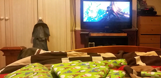 Wrapping presents while watching Avengers: Infinity War