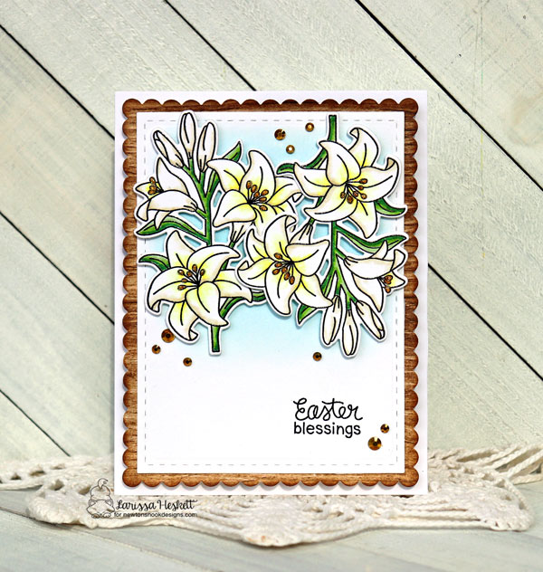 Easter Lily Card by Larissa Heskett | Easter Lily Stamp Set and Frames & Flags Die Set by Newton's Nook Designs #newtonsnook #handmade