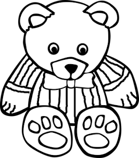 Gambar List Mewarnai Boneka Beruang Pict Pictures Teddy Bear Free