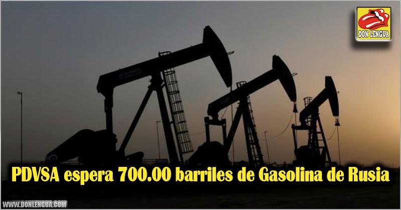 PDVSA espera 700.00 barriles de Gasolina de Rusia