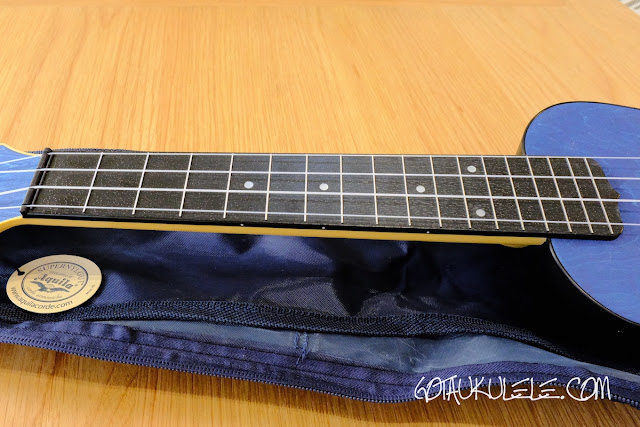 Flight TUSL-35 Concert Scale Soprano Ukulele fingerboard