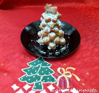 Biscotti pan di zenzero senza burro - Albero di biscotti gingerbread