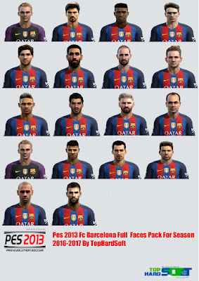 Pes 2013 Fc Barcelona Full Faces Pack For Season 2016-2017 By TopHardSoft