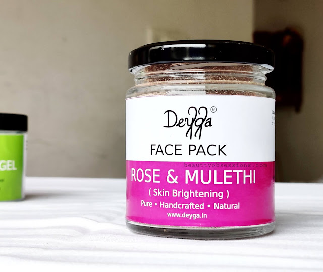 Rose and Mulethi face mask from brand Deyga