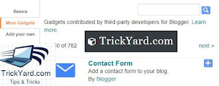 How to add contact Us form in  the blog just for simple steps