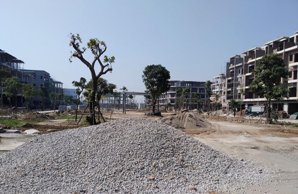 Công viên trung tâm dự án Him Lam Green Park dần được hoàn thiện