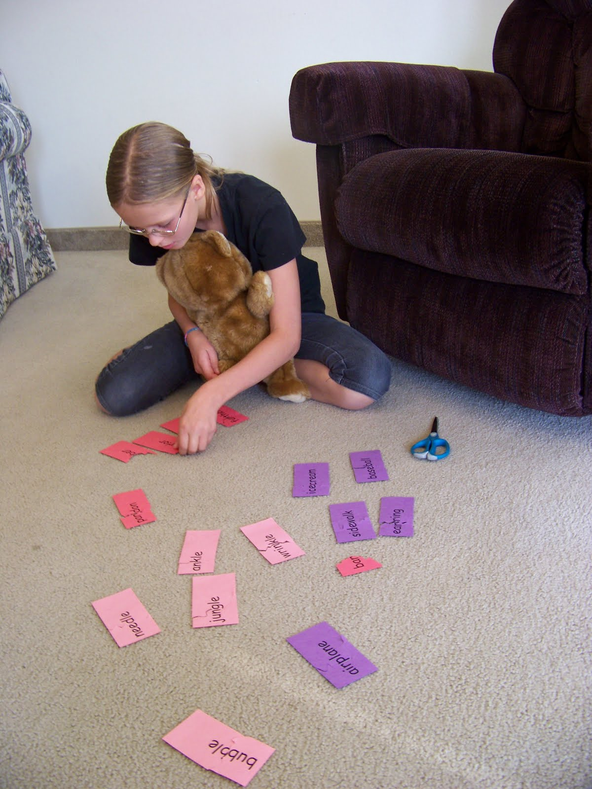 Our Fun Homeschool Jigsaw Words Dividing Words Into