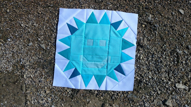 Sun quilt block - block 4 of QAL By the Sea