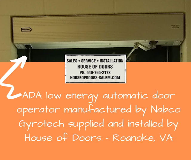ADA low energy automatic door operator manufactured by Nabco Gyrotech supplied and installed by House of Doors - Roanoke, VA