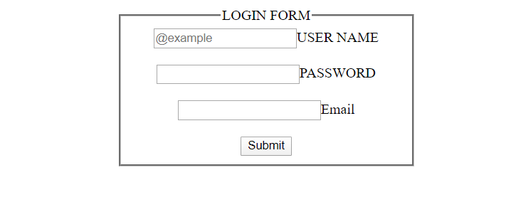 html login forms