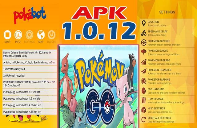 Pokemon Go - Pokebot se actualiza APK 1.0.12 (Puedes ver tus objetos)