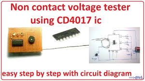 homemade non contact voltage tester using CD4017