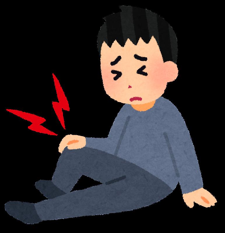 「イラスト 膝の痛み」の画像検索結果