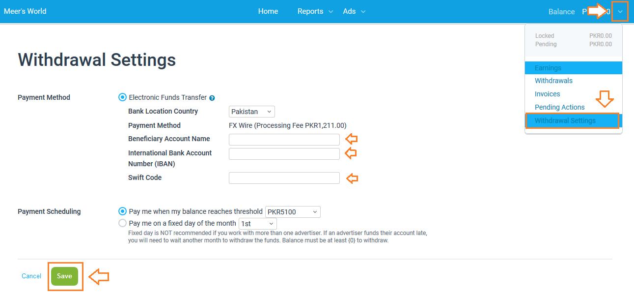 Namecheap Payment configuration on Impact Radius