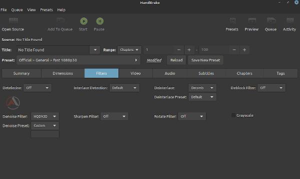كيفية استخدام برنامج HandBrake على لينكس