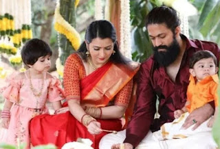 Yash (KGF) Actor Family Wife Parents children's Marriage Photos