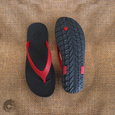WR Red Black Sandal Pria Camou